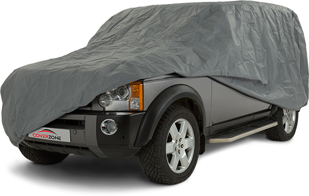 Stormforce Waterproof Car Cover - Part covered Land Rover Discovery
